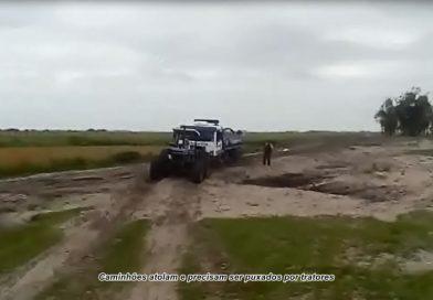 Secretaria de Obras realiza serviço em estrada na localidade das Almas