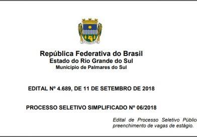 Prefeitura de Palmares do Sul está com processo seletivo aberto para estagiários
