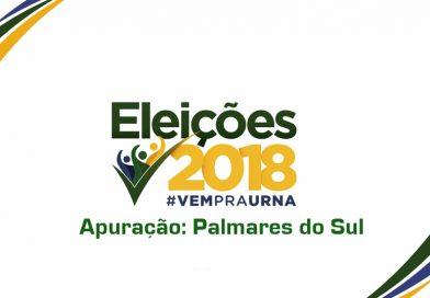 Confira apuração das Eleições 2018 em Palmares do Sul