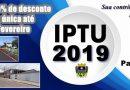 Prefeitura de Palmares do Sul lança calendário de arrecadação do IPTU 2019